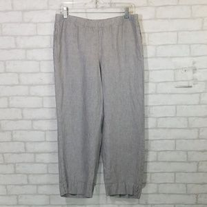 J.Jill love linen pull on capri pants size Small